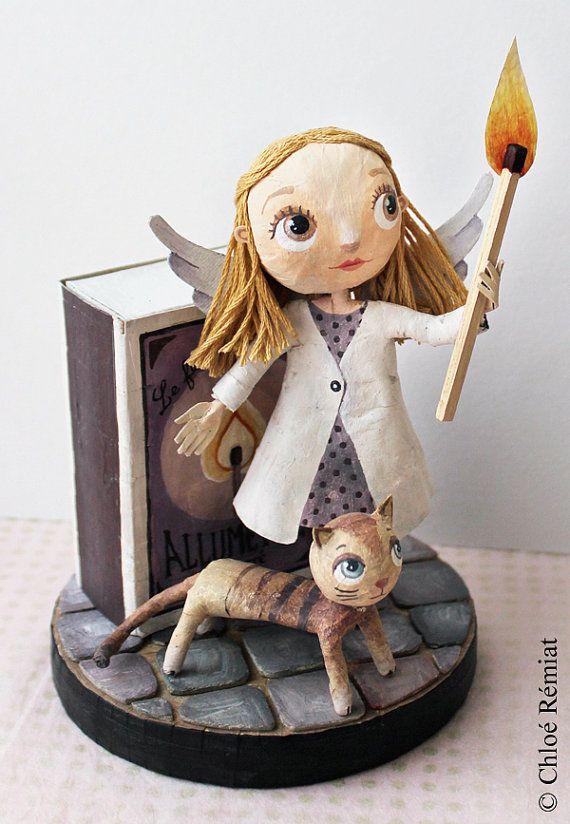 La Petite Fille aux Allumettes, original de l'illustration pour les vêtements Anatopik, OOAK DOLL