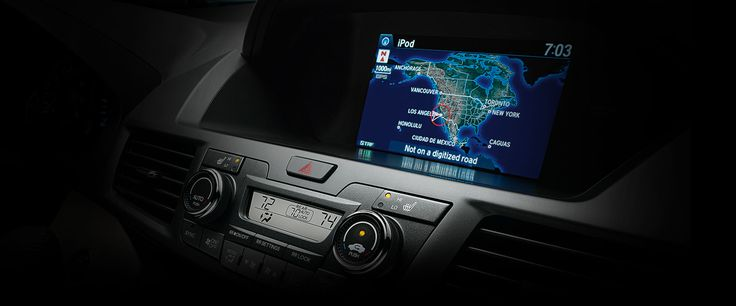 This 8-inch screen displays information like incoming text messages, music info from Pandora and fuel consumption.  #HoehnHonda #Carlsbad #CA #2016 #Honda #Odyssey #Van #Family
