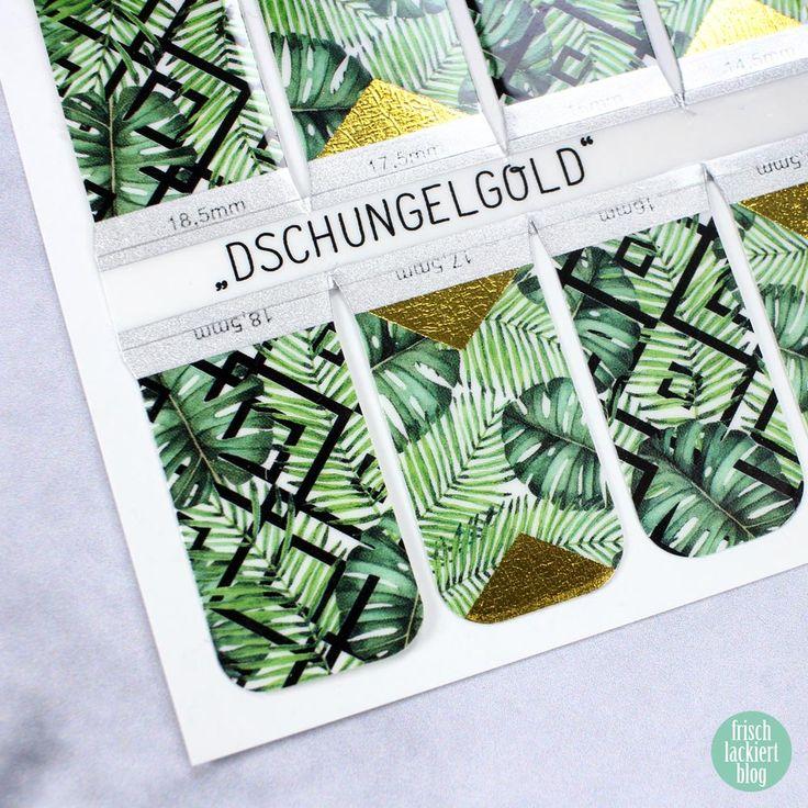 Sticker Gigant Nagelsticker - Sommerkollektion 2017 - Dschungelgold – by frischlackiert