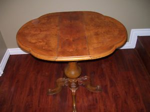 Antique  game table with overlay Cornwall Ontario image 1