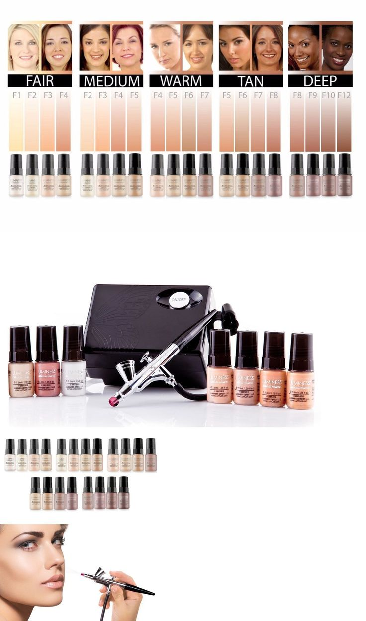 Other Makeup Tools and Accs: New Luminess Air Basic Airbrush System +7 Piece Airbrush Foundation Cosmetic Kit -> BUY IT NOW ONLY: $186 on eBay!