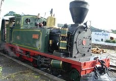 Kawakawa vintage railway, complete with a steam train that chugs through the centre of town