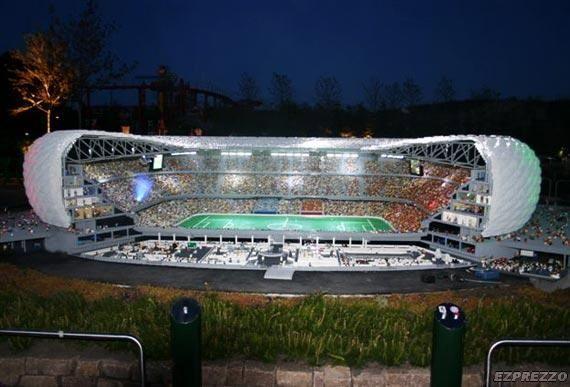 LEGO soccer arena