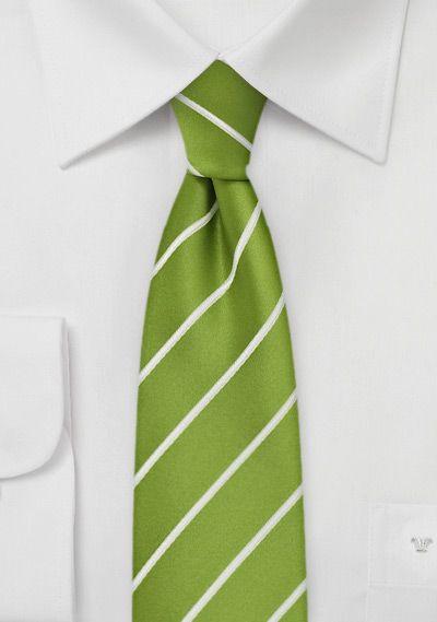 Schmale Krawatte Streifen giftgrün