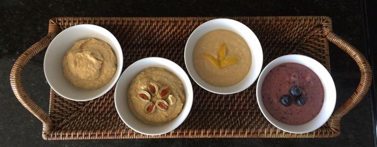 Homemade Hummus Assortment - Traditional Garlic, Olive, Tangy Lemon, and Lemon Blueberry