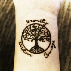 Image result for serenity courage wisdom wrist tattoo
