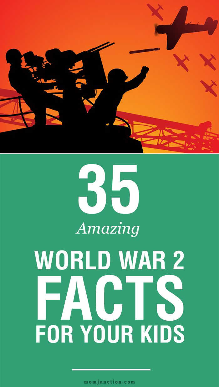 Do you want to teach world war 2 facts for kids? Here are few amazing facts & information about the second World War that you can share with your child. Read on