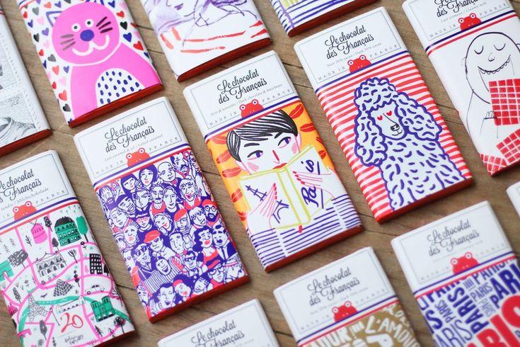 Le Chocolat des Français packaging identity