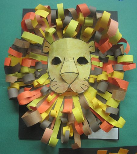 Inspired Class: Construction Paper Lion Heads