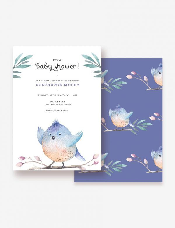 BabyShower Invitation Little Birdie. Shop this printable at www.inatondesign.com