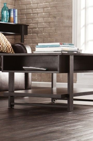Cloke Black Cocktail Table By Southern Enterprises Inc. On @HauteLook