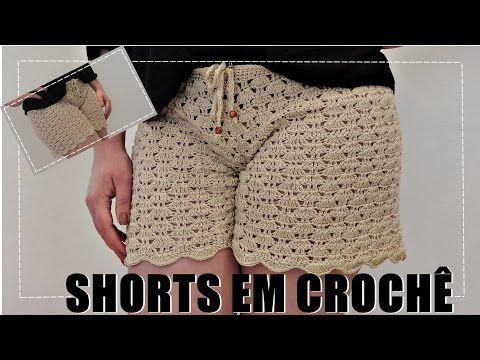 Short em crochê com Camila Fashion/ Cristina Amaduro - YouTube