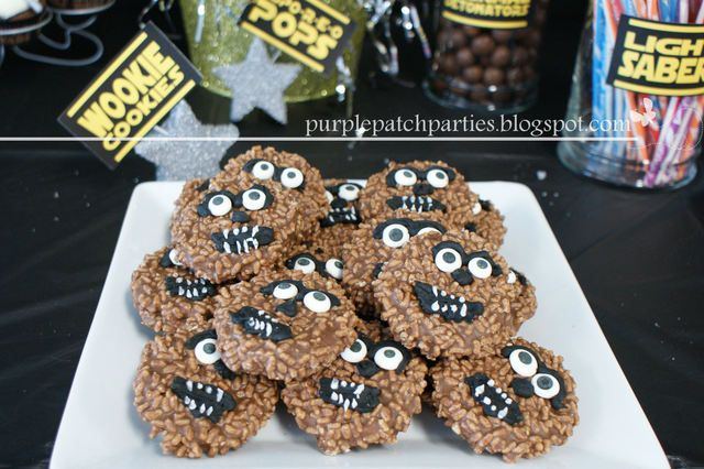 Wookie Cookies at a Star Wars party #starwars #wookiecookie