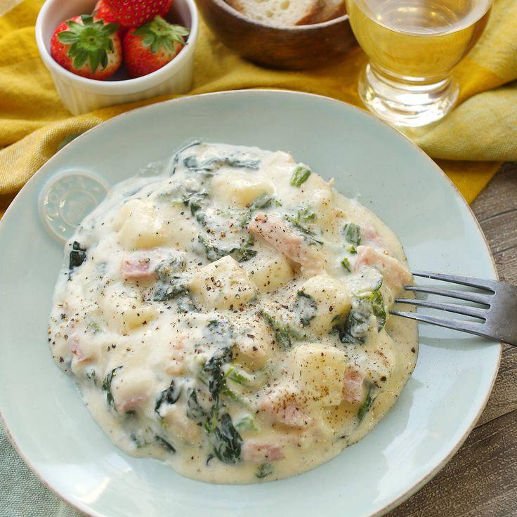 切り餅ニョッキのチーズクリームソース Mochi Gnocchi