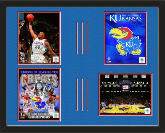 Four framed 8 x 10 inch University of Kansas photos of Paul Pierce ...