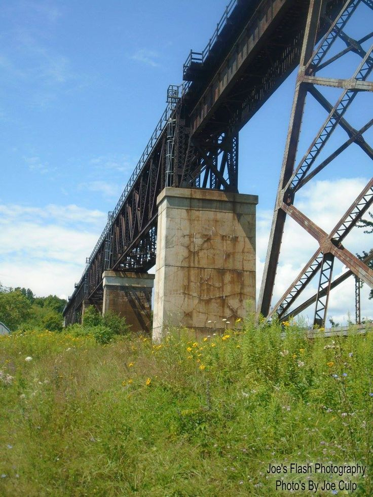 The Seguin River Trestle in Parry Sound Ontario August 6, 2017