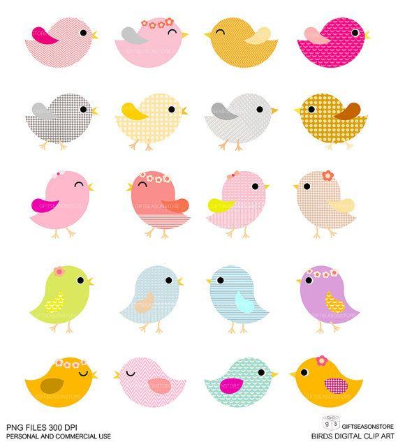 20 aves Digital prediseñadas para Personal y por Giftseasonstore