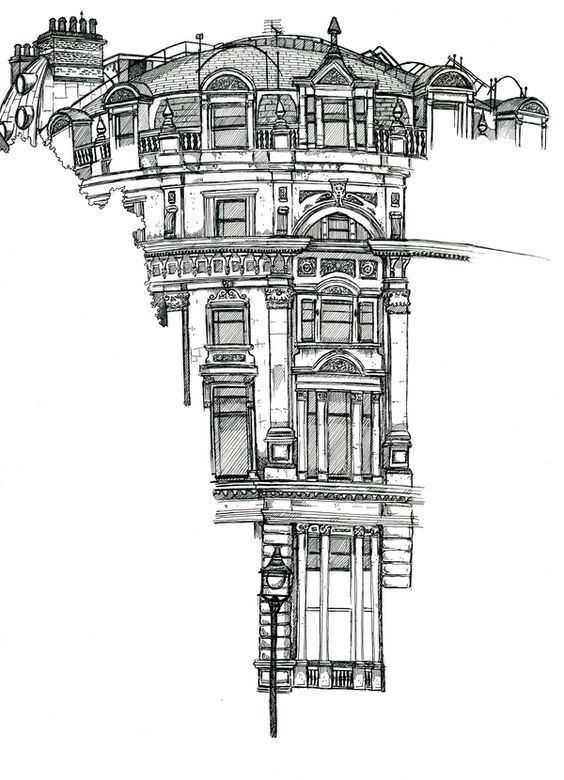 Location Drawings by Chris Burge, via Behance: