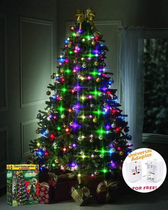 Hot Sale 64 Led Christmas Tree Lights Tree Dazzler 65 Off Today Only Hanging Christmas Lights Led Christmas Tree Led Christmas Tree Lights