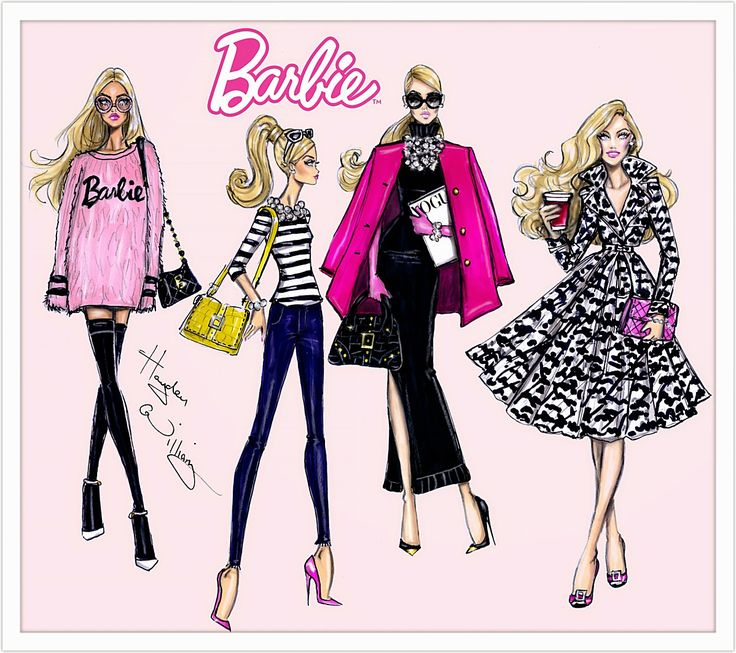 Hayden Williams Fashion Illustrations: Barbie Style collection by Hayden Williams