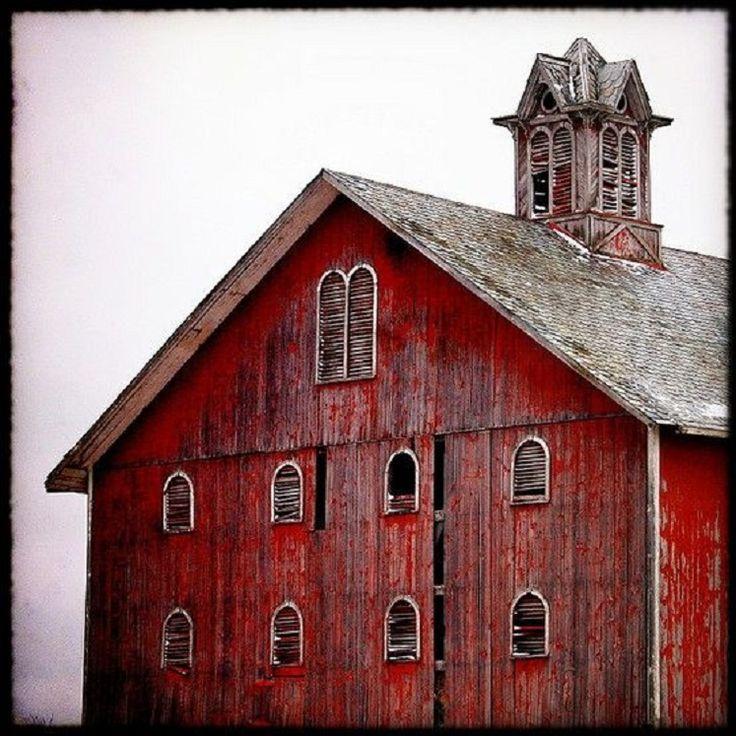 Mega cool old red barn