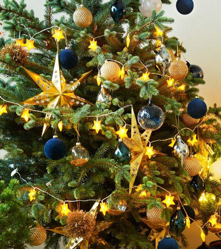 Zara Home Noël 2017 sapin bleu et doré