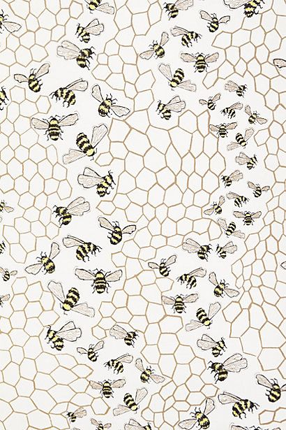 Bee Colony Wallpaper - anthropologie.com http://uk.pinterest.com/betheleanor/pattern/
