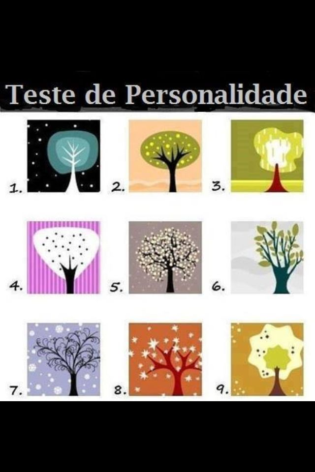 Modelos de arvores: Thoughts, Personalized Test, Numbers 2, Stuff, Dark Side, Trees, Fun, People, The One