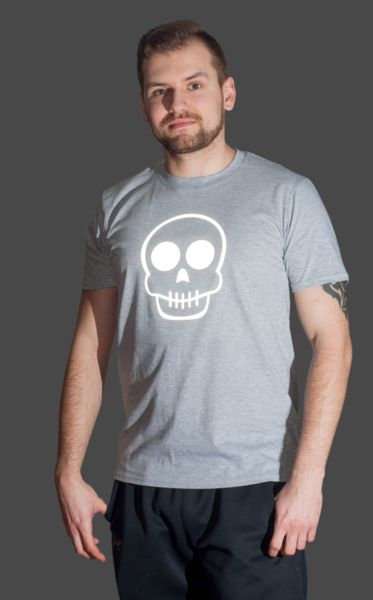 T-SHIRT ODBLASKOWY SUGAR SKULL 2 - Odblaskomat - Koszulki z nadrukiem