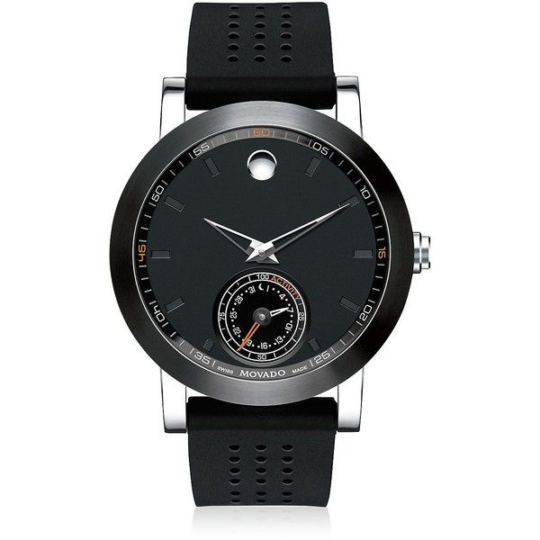 Movado Museum Sport Motion Smart Watch ($1,025) ❤ liked on Polyvore featuring men's fashion, men's jewelry, men's watches, apparel & accessories and black