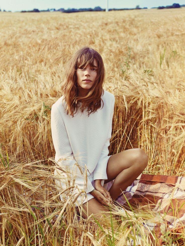 Freja Beha Erichsen // bangs & white dress #style #fashion