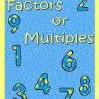 This product contains activities that helps student distinguish between factors and multiples. It includes 2 graphic organizers Frayer models, and ...