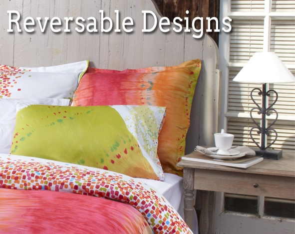 All our doona cover designs are reversible!