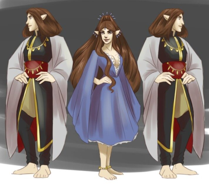 Arwen and the twins Elladan and Ellohir I think they are cool xdxd By Idahlart