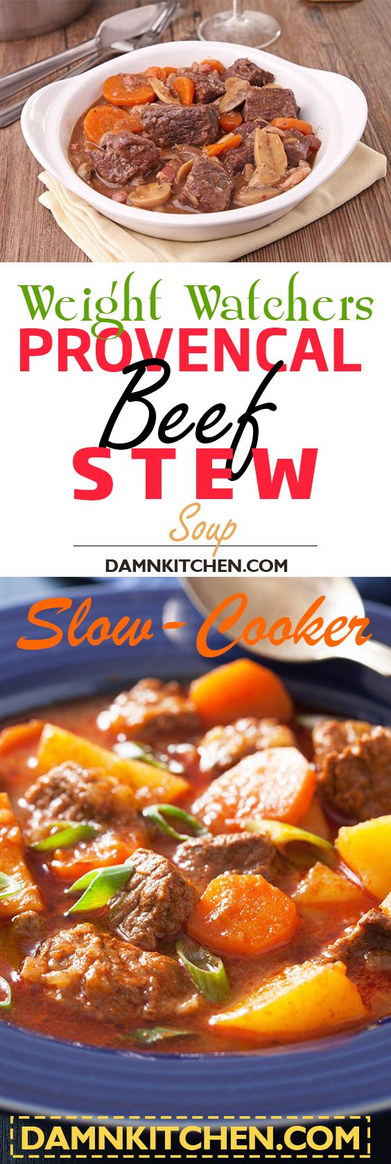 weight watchers meals Slow Cooker Provencal Beef Stew (Weight Watchers)