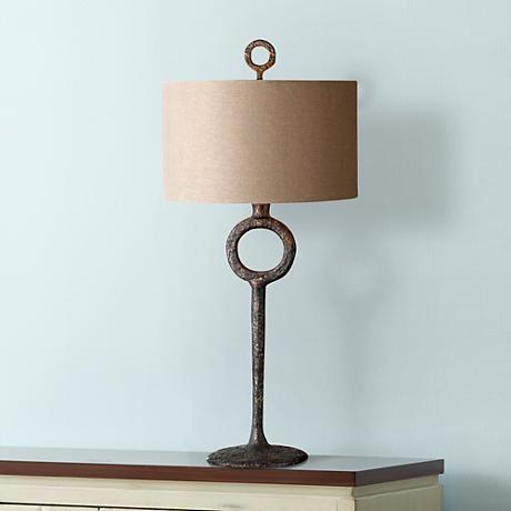 Uttermost Ferro Rust Beige Table Lamp - #4Y603   www.lampsplus.com