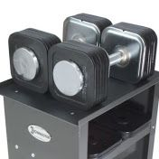 The most up-to-the-minute adjustable dumbbell at hand, that has a more small- scaled size, ranging from 5 to 45 pounds, is the Quick-Lock Dumbbell System, made by Ironmaster. This, like common dumbbell sets, adds a finishing touch to your collection of free-weight dumbbells. They also come with a speedy, licensed 15-second lock design.