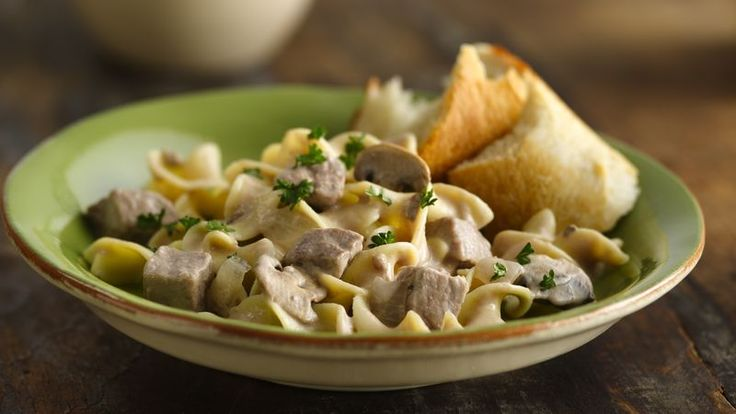 Simple yet savory stroganoff starts with two cans of creamy mushroom soup. What a wonderful way to welcome the family home for dinner!
