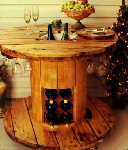 mesa de jantar de carretel de madeira - Pesquisa Google