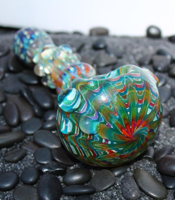 Jumbo size FREESTYLE color changing glass pipe AMERICAN made