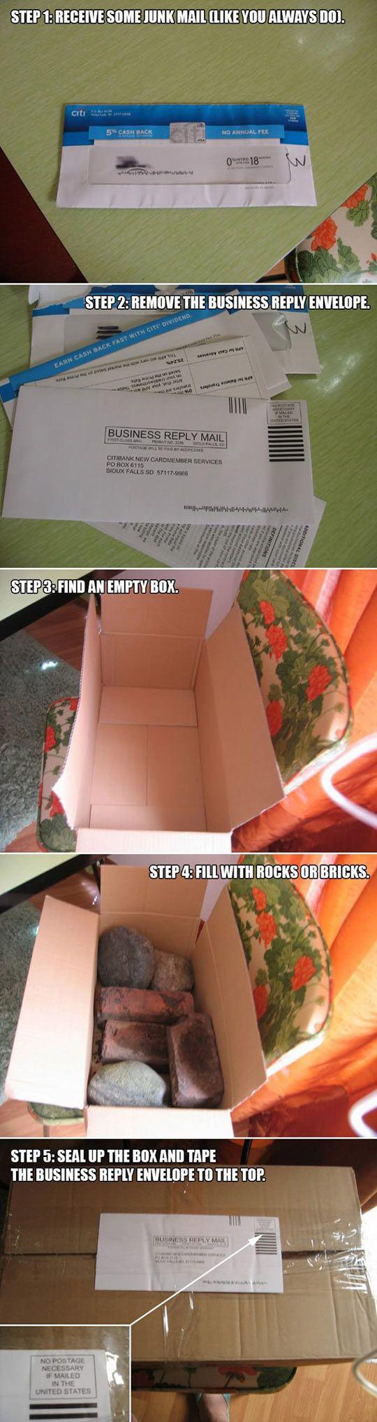 Tired of getting junk mail? - Genius...SO genius!