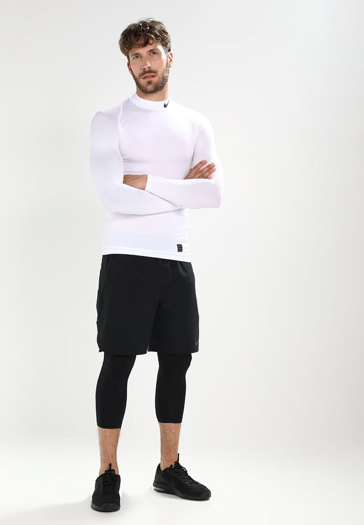 Nike Performance PRO COMPRESSION - Camiseta de deporte - white/black UkdHHzP8F
