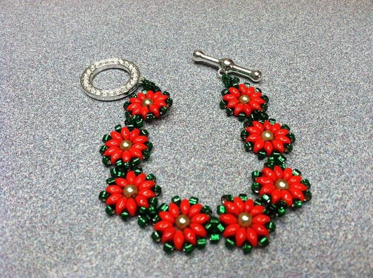 Twin bead Christmas bracelet