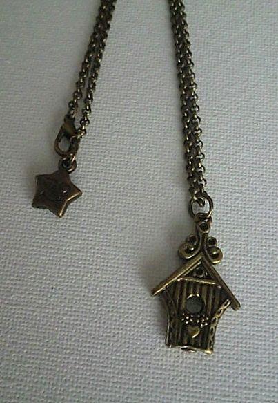 Bird house - necklace handmade by Miss Daisy