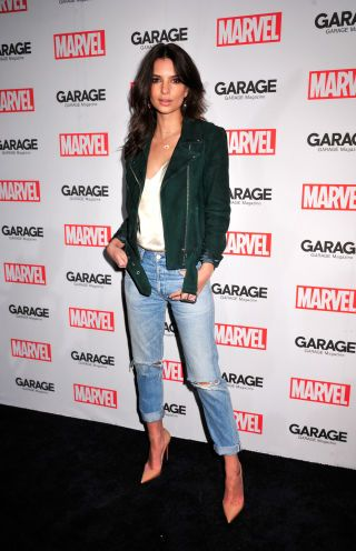 Celebrities at Fashion Week: Emma Ratajkowski At the Marvel and Garage magazine event