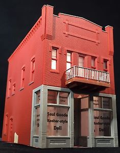 HO Scale 2-Story Building 'Saul Goode Kosher Deli'  - Lighted Free US Shipping  | eBay