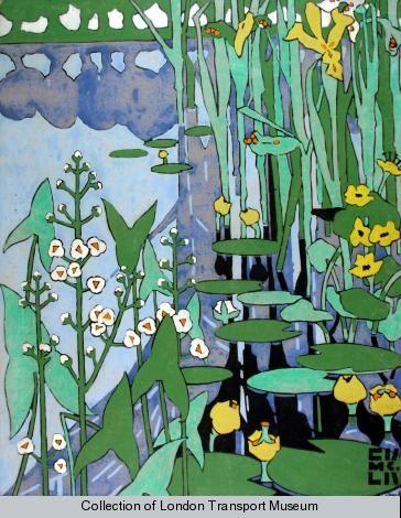 Flowers of the Riverside by Edwared McKnight Kauffer 1920