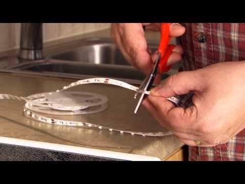 Installing LED Tape Lighting - YouTube