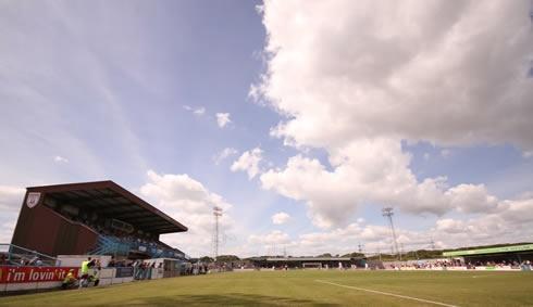 The Bob Lucas Stadium, home of Weymouth FC