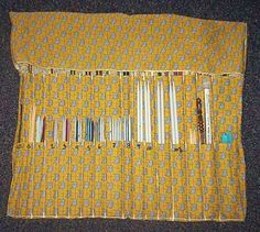 This has tons of needle pockets, and I love the guide that tells how big to make the pockets for each size.